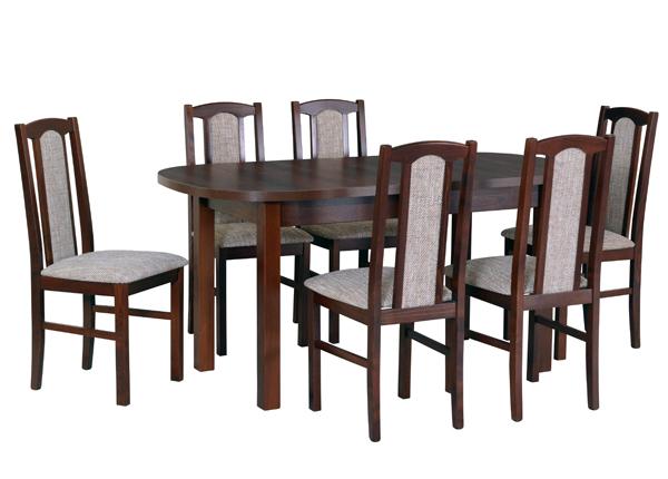 Pikendatav söögilaud + 6 tooli CM-140994