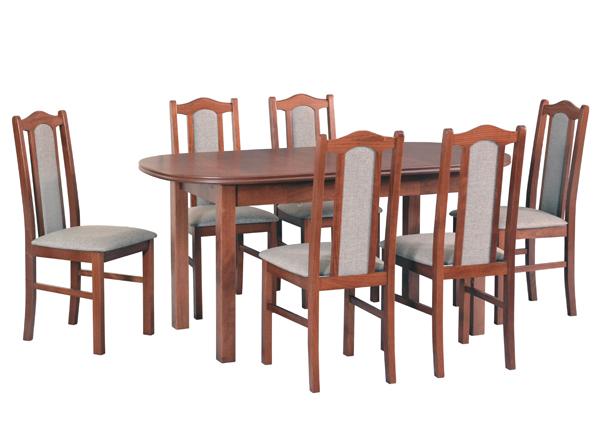 Pikendatav söögilaud + 6 tooli CM-141028
