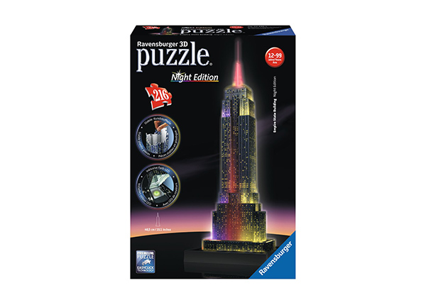 3D pimedas helendav pusle Empire State Building 216 tk RO-141048