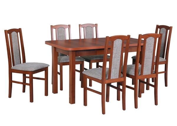 Pikendatav söögilaud + 6 tooli CM-141058