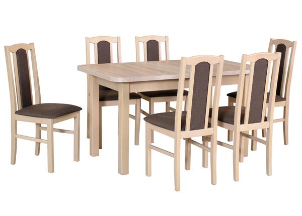 Pikendatav söögilaud + 6 tooli CM-141091