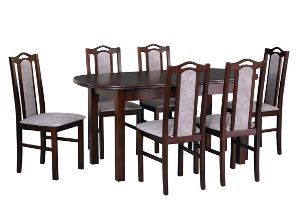 Pikendatav söögilaud + 6 tooli CM-141110