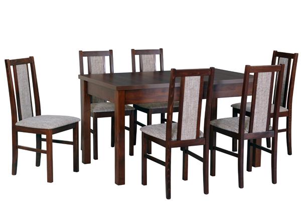Pikendatav söögilaud + 6 tooli CM-141114