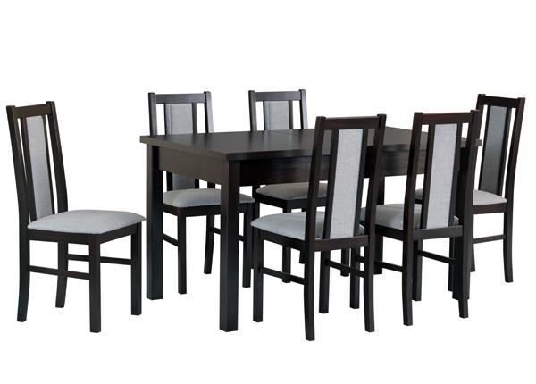Pikendatav söögilaud + 6 tooli CM-141132