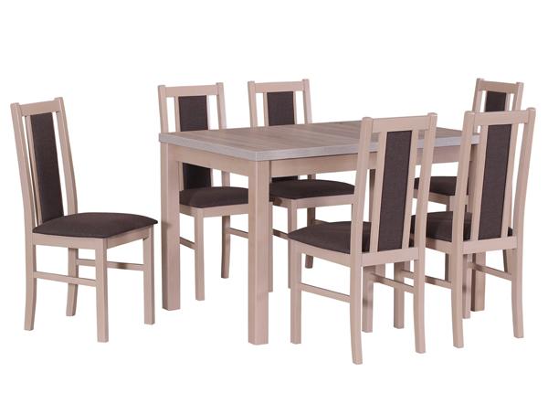 Pikendatav söögilaud + 6 tooli CM-141133