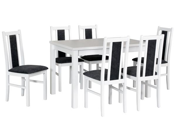 Pikendatav söögilaud + 6 tooli CM-141138