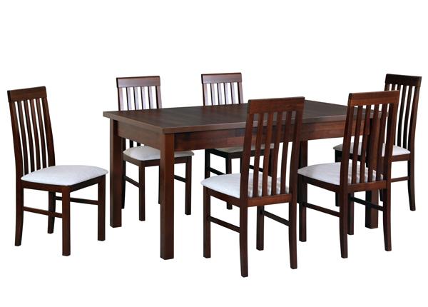 Pikendatav söögilaud + 6 tooli CM-141143