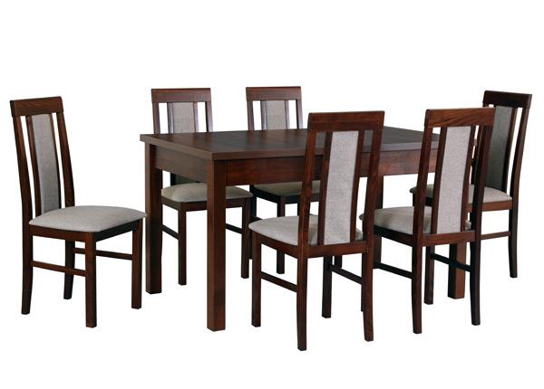 Pikendatav söögilaud + 6 tooli CM-141301