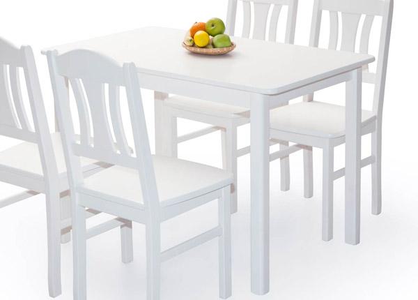 Söögilaud Per 120x70 cm, valge EC-141326
