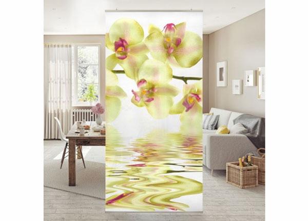 Paneelkardin Dreamy Orchid Waters