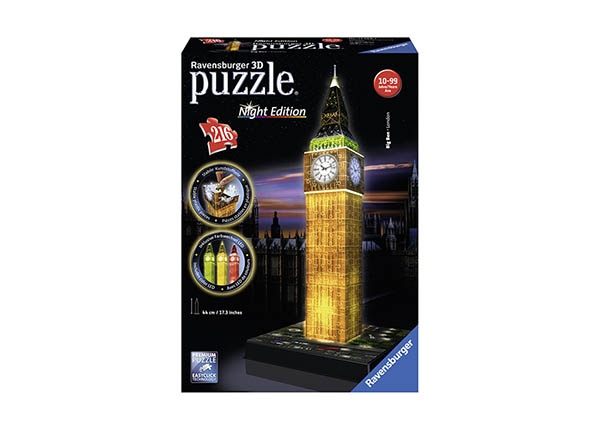 3D pimedas helendav pusle Big Ben 216 tk RO-142134