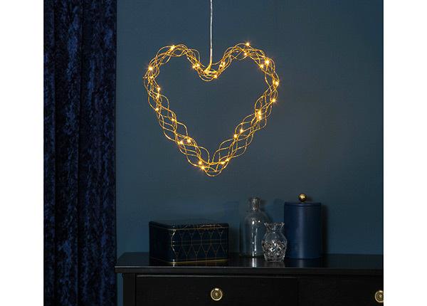 LED tuledega süda Curly AA-142449
