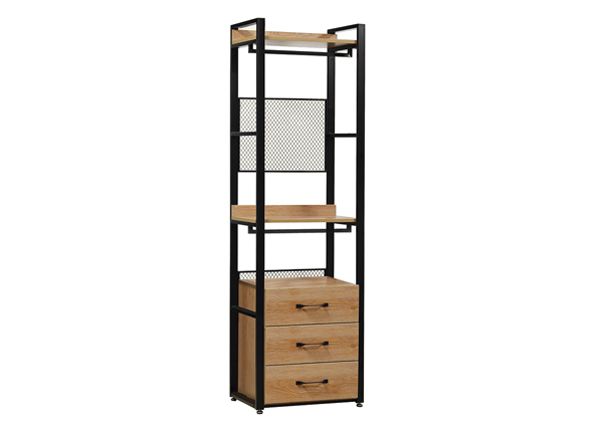 Garderoobisüsteem 60x200 cm (2 riiulit+ 2 toru +sahtliboks) BM-142626