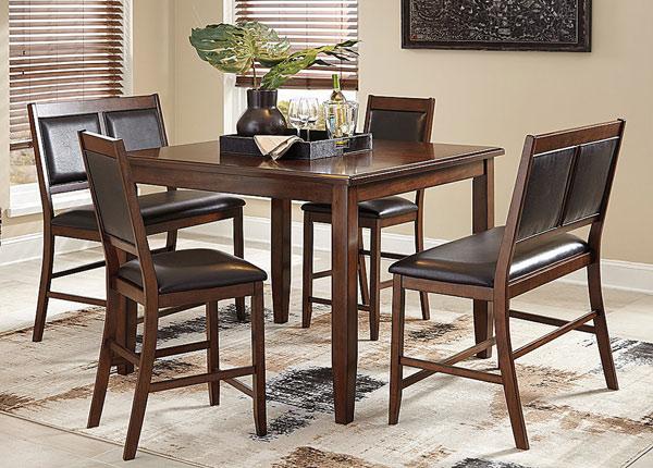 Baarilaud 122x122 cm + 2 tooli ja 2 pinki