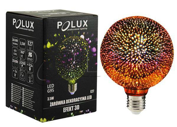 LED filament POLUX 3D elektripirn 3,5 W