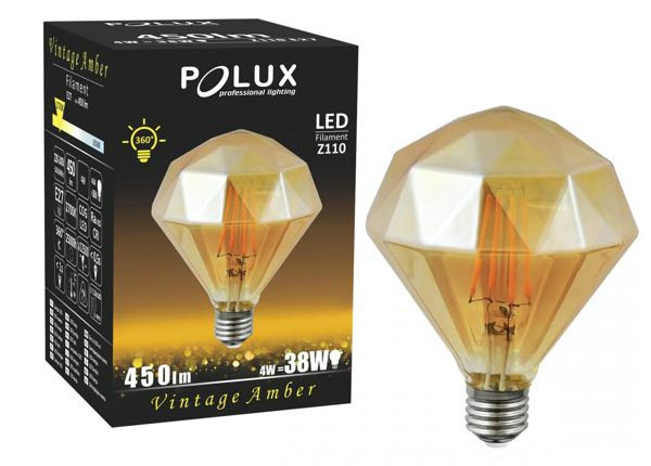 LED bulb filament Amber Diamond elektripirn 4 W