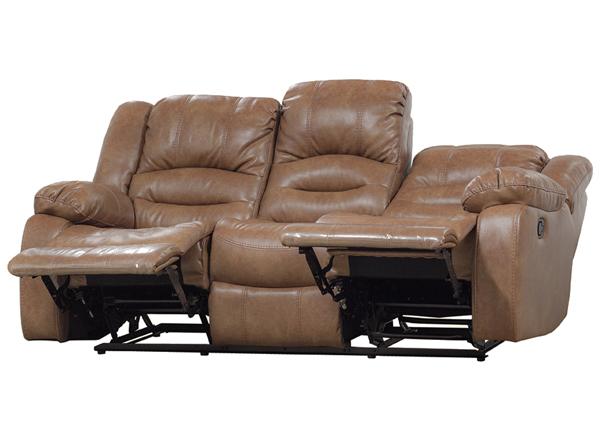 3-kohaline diivan Relax2, helepruun nahk BM-142870