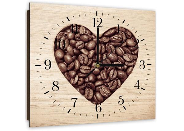 Pildiga seinakell Heart from coffee beans ED-144115