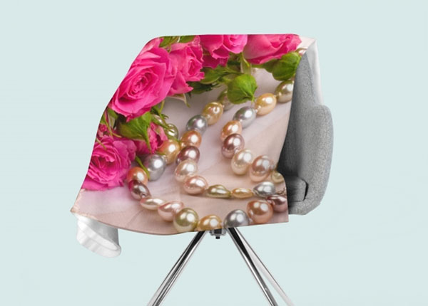 Fliispleed Roses and Pearls 130x150 cm ED-146591