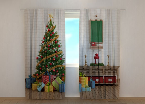 Pimendav kardin Christmas Tree with Gifts 240x220 cm ED-146956