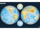 Regio maailma poolkerade seinakaart 1:34 000 000 RW-45457