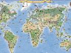 Regio maailma piltkaart riputusliistudega RW-45469