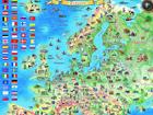 Regio Euroopa piltkaart riputusliistudega RW-45470