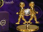 Kullatud Swarovski kristallidega kuju Kaksikud MO-47012