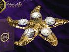 Kullatud Swarovski kristallidega kuju Meritäht MO-47049