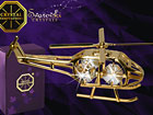 Kullatud Swarovski kristallidega kuju Helikopter MO-47053