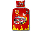 Laste voodipesukomplekt Fire truck