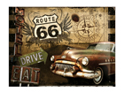 Retro metallposter Route 66 15x20cm