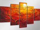 Viieosaline seinapilt Päikeseloojang ED-65586