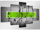 Viieosaline seinapilt Grün ED-65589