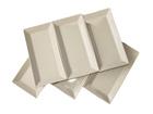 Piklik valge taldrik Classic 28,5x15,5 cm NN-66452