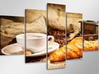 Viieosaline seinapilt Kohv