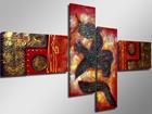 Neljaosaline seinapilt Punane draakon ED-66703