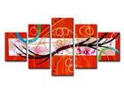 Viieosaline seinapilt Abstrakt ED-67205