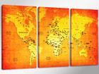 Kolmeosaline seinapilt Maakaart ED-67563