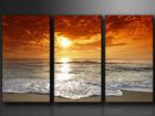 Kolmeosaline seinapilt Õhtune rand ED-67566