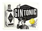 Retro metallposter Gin Tonic 15x20cm SG-68143