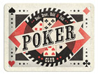 Retro metallposter Poker Club 15x20cm SG-68151