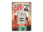 Retro metallposter Route 66 Last Chance Gas Station 20x30cm SG-68156
