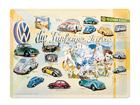 Retro metallposter VW die Fünfziger Jahre 30x40cm SG-68169