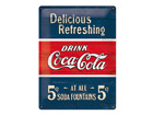Retro metallposter Coca-Cola 5c Delicious Refreshing 30x40cm