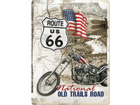 Retro metallposter Route 66 National Old Trails Road 30x40cm SG-73498