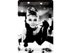 Retro metallposter Breakfast at Tiffany´s Audrey