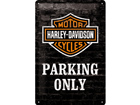 Retro metallposter Harley-Davidson Parking only 20x30cm SG-74246