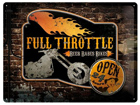 Retro metallposter Full Throttle 30x40cm SG-74258