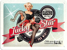 Retro metallposter Lucky Star 15x20cm